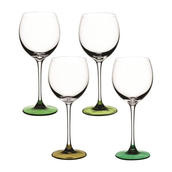 Coro Green, sklenice na víno, sada 4 ks