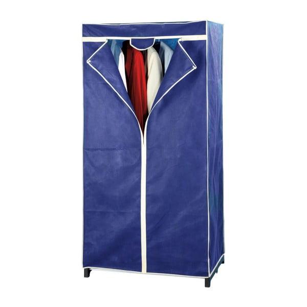 Modrá skladacia látková šatníková skriňa Wenko Air