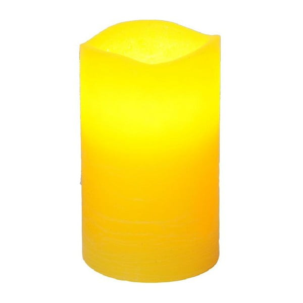 LED svíčka Real Yellow, 12 cm