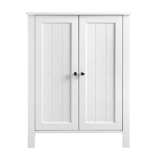 Bílá koupelnová skříňka s dvířky Songmics, šířka 60cm