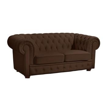 Canapea cu 2 locuri din piele Max Winzer Bridgeport maro