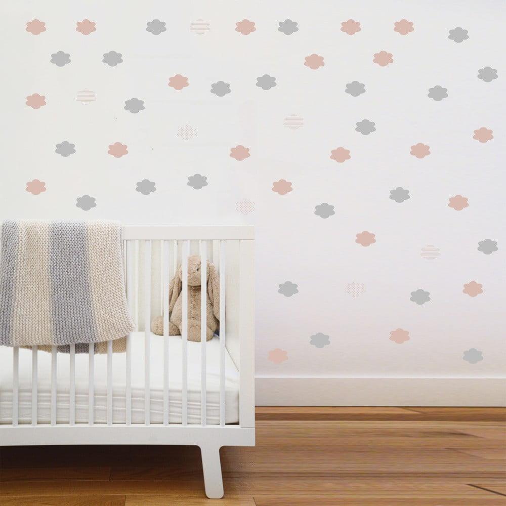 Růžové nástěnné samolepky Art For Kids Clouds