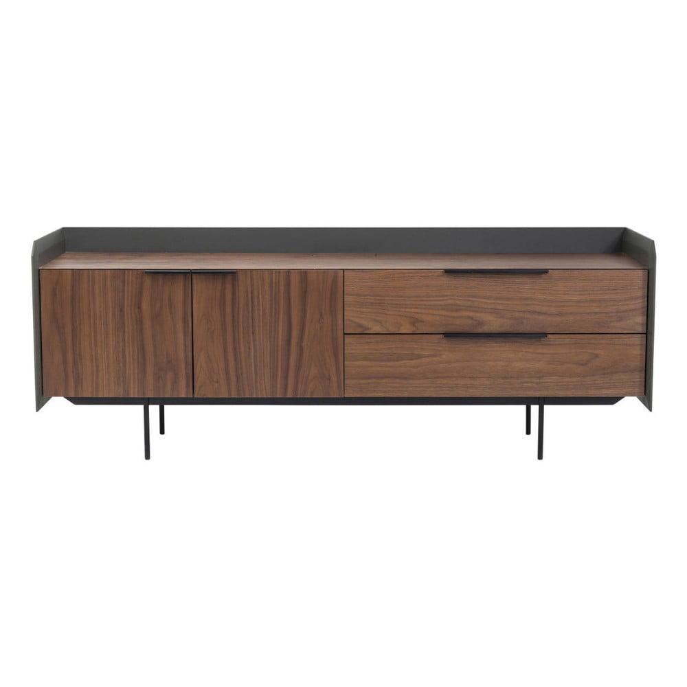 Tmavě hnědý televizní stolek Kare Design Undercover
