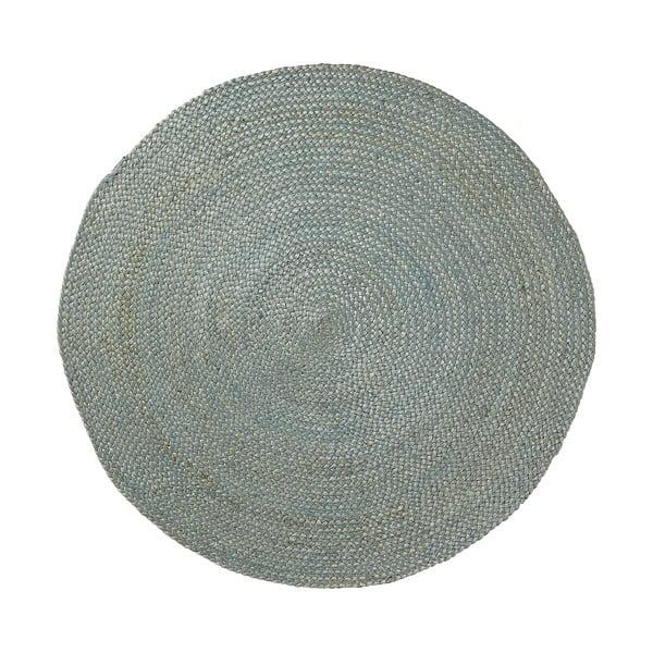 Modrý jutový koberec La Forma Dip, Ø100 cm