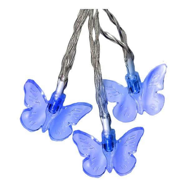 Světelný řetěz Butterflies 280 cm, modrý
