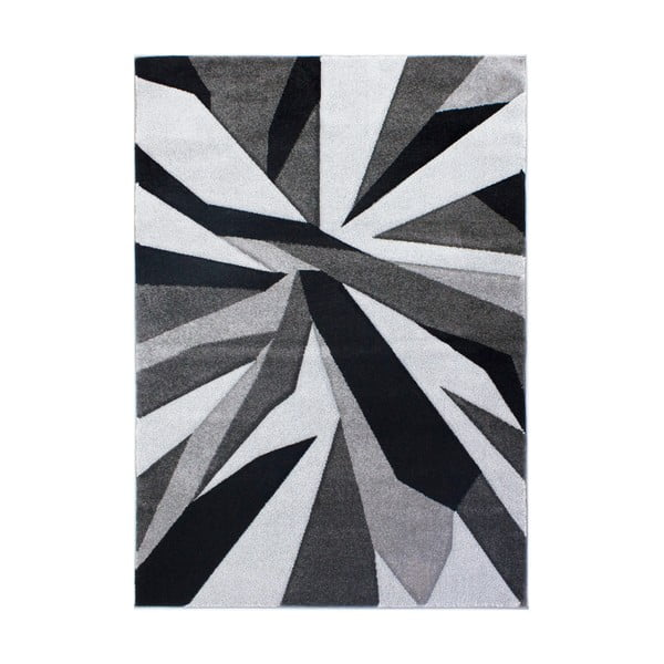 Covor Flair Rugs Shatter Black Grey, 160 x 230 cm, negru - gri