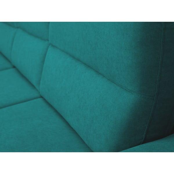 Tyrkysová rozkládací rohová pohovka Windsor & Co Sofas Omega, levý roh