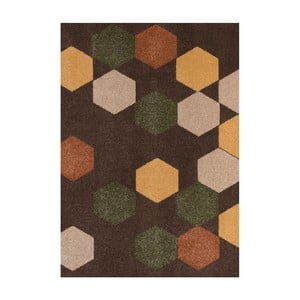 Hnědý koberec DECO CARPET Milano, 133 x 190 cm