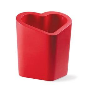 Červený květináč Slide Mon Amour, 80x90cm