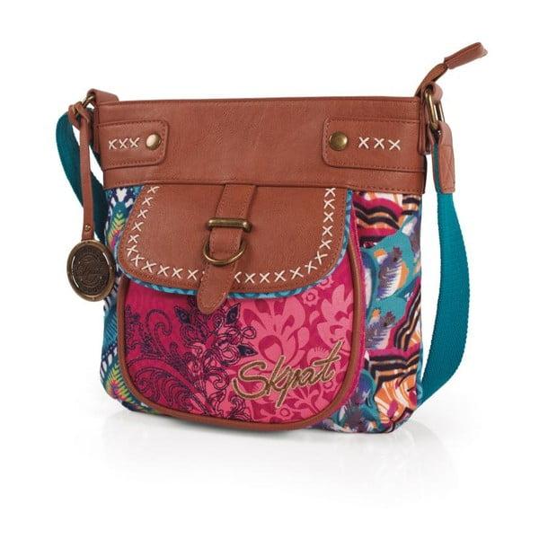 Pestrobarevná kabelka SKPA-T, 26 x 25 cm