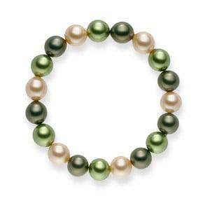 Zelený perlový náramek Pearls of London Mystic, délka 19 cm