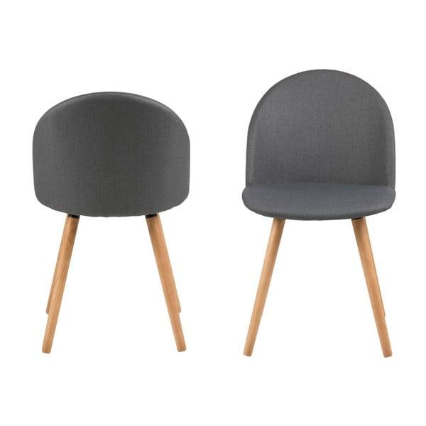 Sada 2 tmavě šedých jídelních židlí Actona Manley
