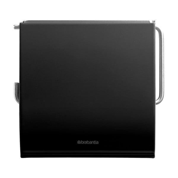 Černý držák na toaletní papír Brabantia Spa
