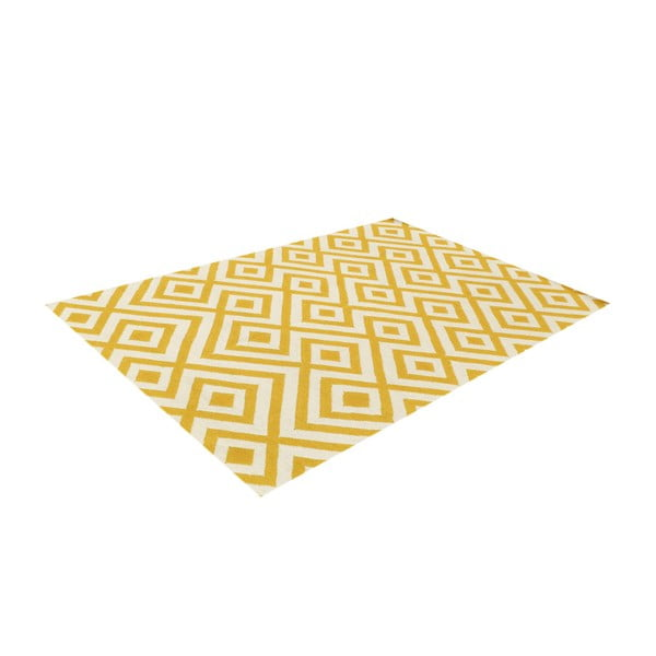 Vlněný koberec Luisa Yellow, 180x120 cm