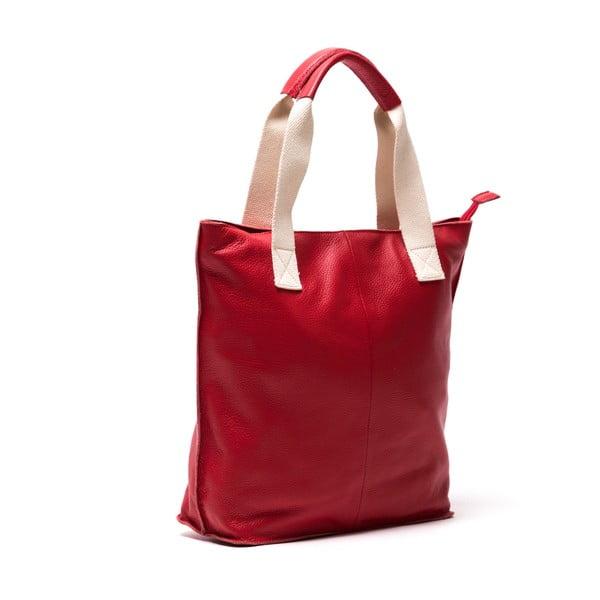 Kožená kabelka Sofia Cardoni Rosso