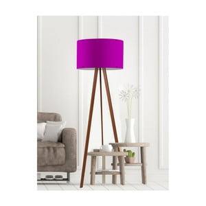 Fialová stojací lampa Simple