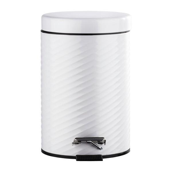 Coș de gunoi cu pedală Wenko Spiro, 3 l, alb
