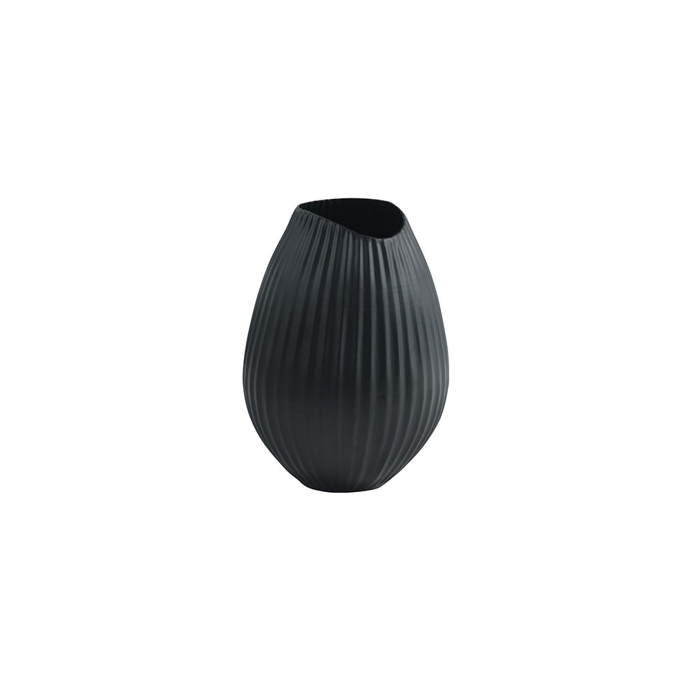 Černá váza Fuhrhome Oslo, Ø15cm