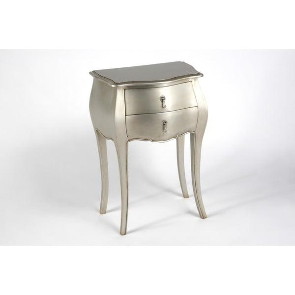 Odkládací stolek se dvěma zásuvkami Muran Silver