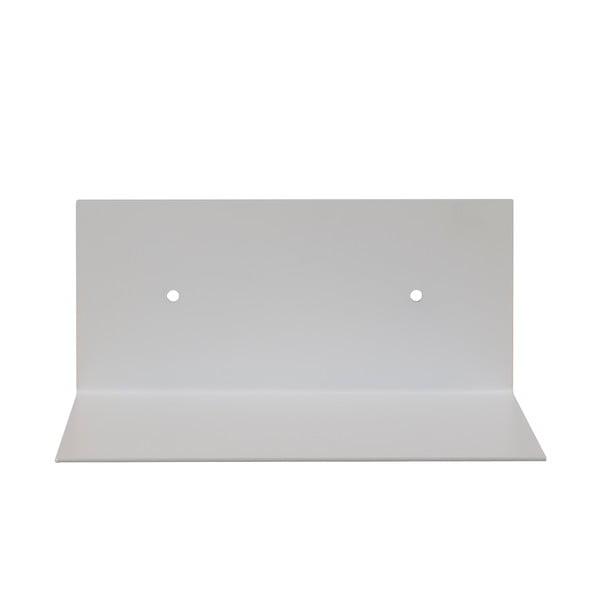 Nástěnná kovová police Gie El 23x10 cm, bílá