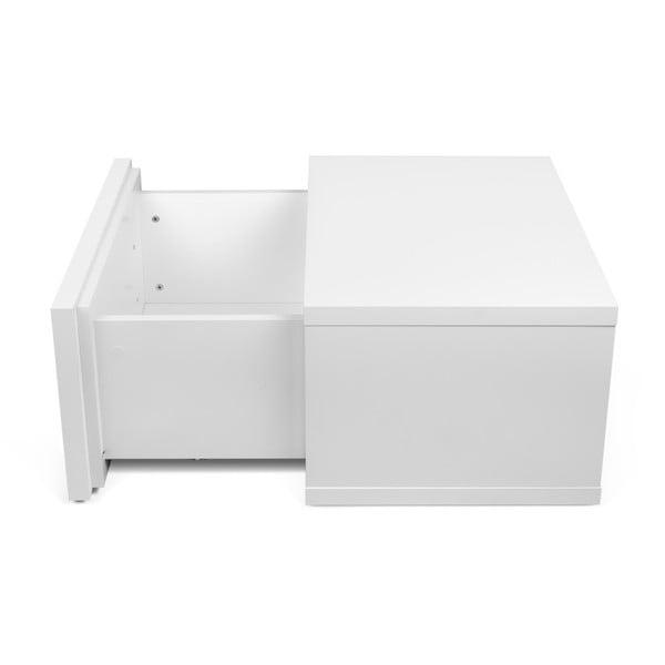 Bílý noční stolek ve vysokém lesku TemaHome Float