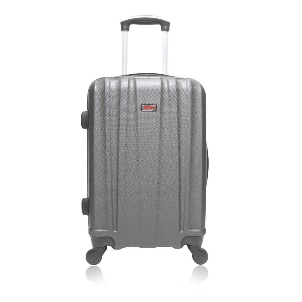 Šedý cestovní kufr na kolečkách Hero Way, 91 l