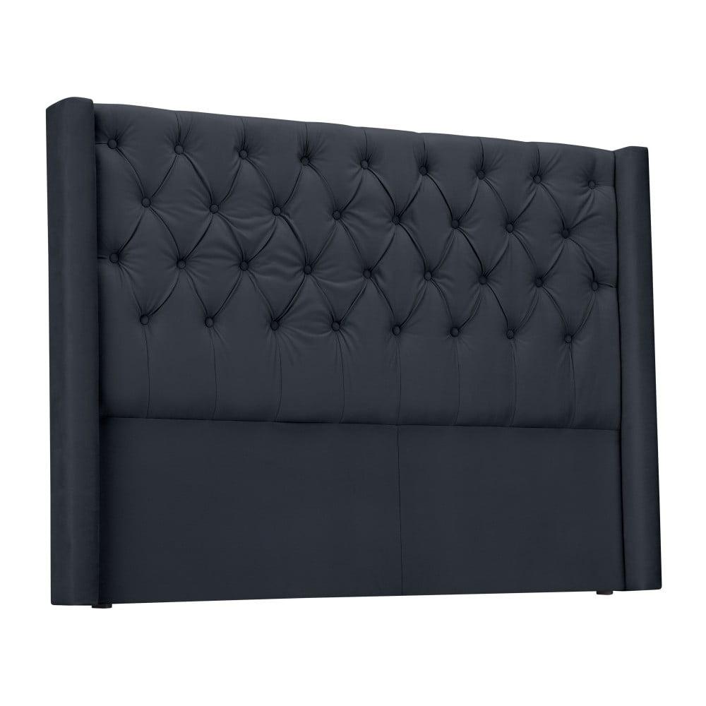 Ocelově šedé čelo postele Windsor & Co Sofas Queen, 176 x 120 cm Windsor & Co Sofas