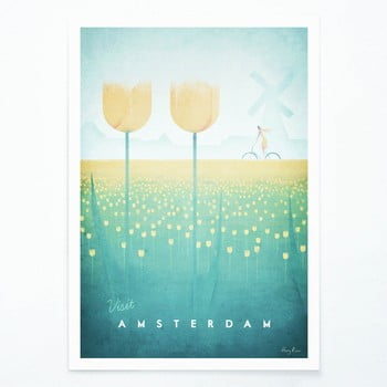 Poster Travelposter Amsterdam, A3 imagine