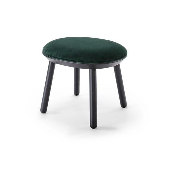 Zielono-czarny aksamitny podnóżek EMKO Naïve