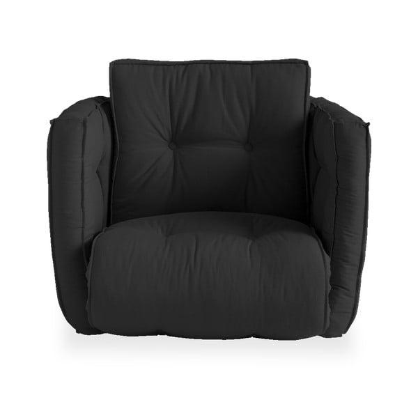 Rozkładany fotel z ciemnoszarym obiciem Karup Design Dice Dark Grey