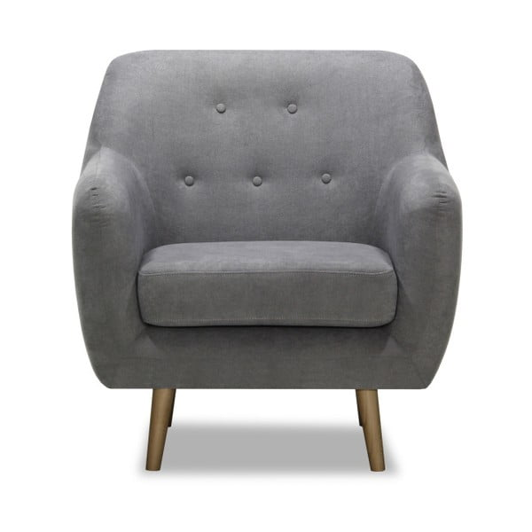 Lila szürke fotel - Vivonita