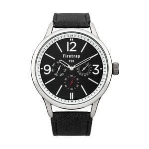 Pánské hodinky Firetrap Gents Black Strap/Black Dial, 44 mm