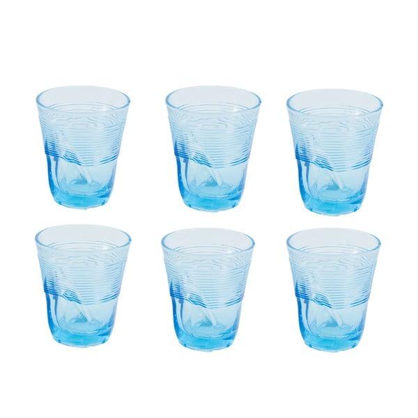 Sada 6 světle modrých sklenic Kaleidos, 360ml
