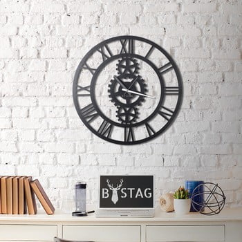 Ceas din metal pentru perete Industrial, 70 x 70 cm de la Unknown
