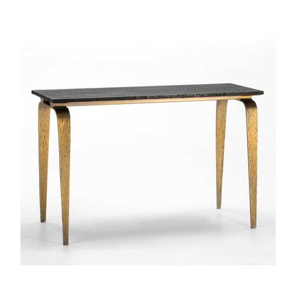 Konzolový stolek s černou deskou Thai Natura