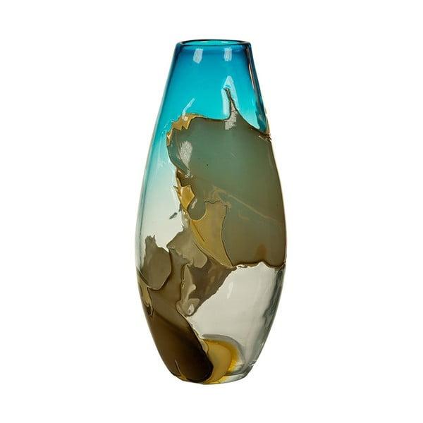 Ručne vyrábaná krištáľová váza Santiago Pons, výška 43 cm