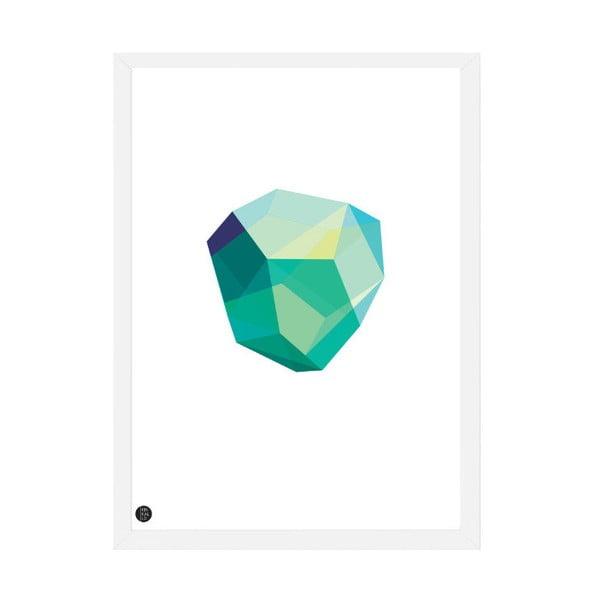 Plakát Emerald White, 50x70 cm