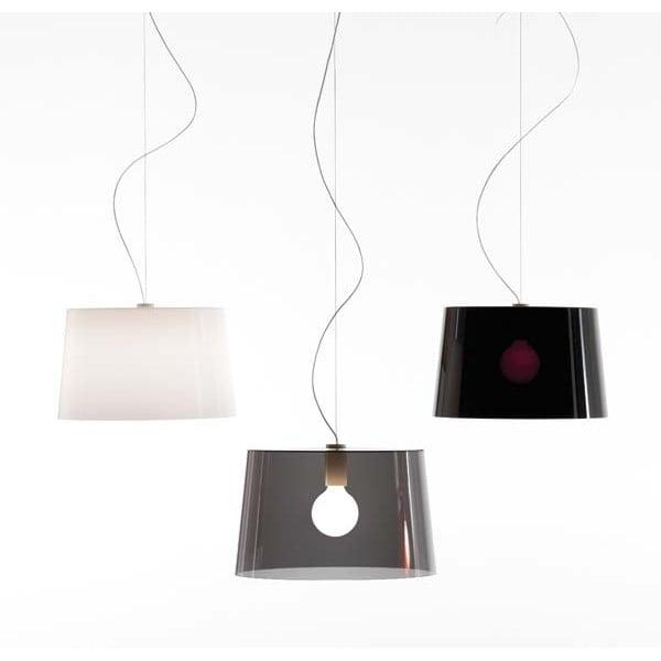 Závěsné svítidlo Pedrali L001S/B, bílé transparentní