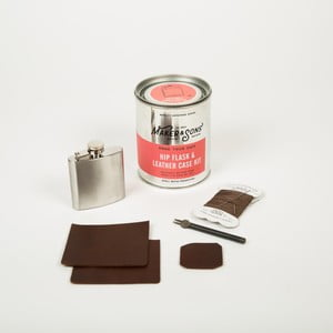 Sada na výrobu koženého pouzdra na placatku Men's Society DIY