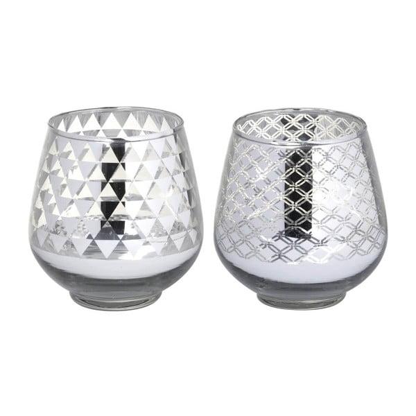 Sada 2 svícnů Allure Glass