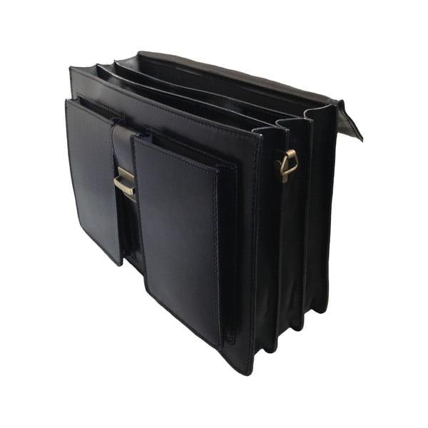 Kožený kufřík Avola, černý