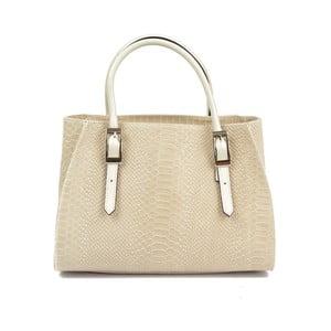 Béžová kožená kabelka Carla Ferreri Anastacia