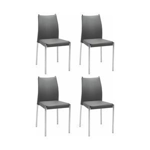 Sada 4 šedých židlí Støraa Zulu