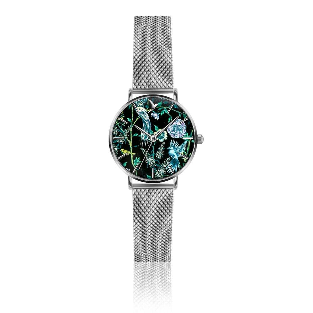 Dámské hodinky s páskem z nerezové oceli ve stříbrné barvě Emily Westwood Garden