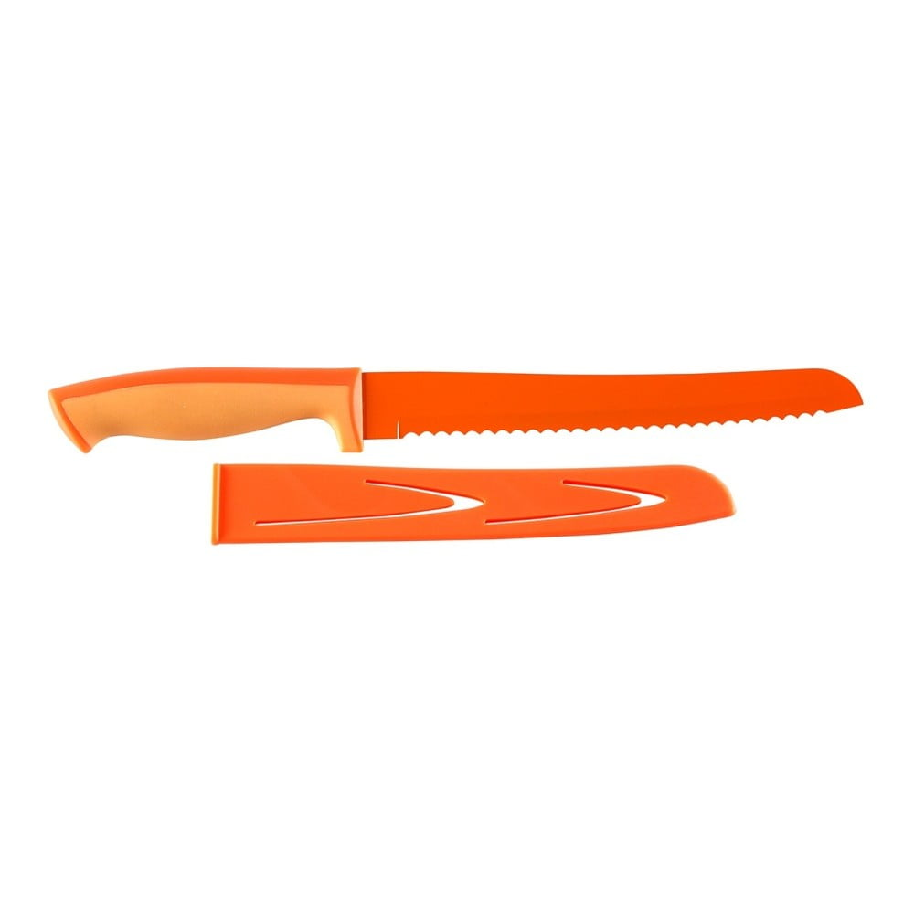 Oranžový nůž na pečivo Versa, 20 cm