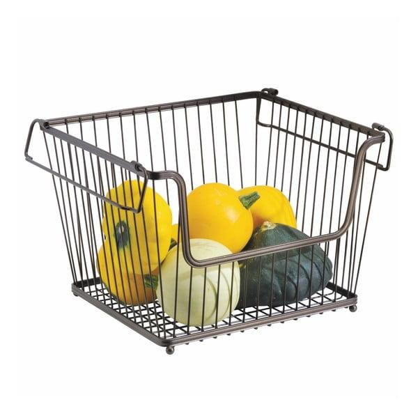 Metalowy koszyk na warzywa iDesign York, 32x27,5cm