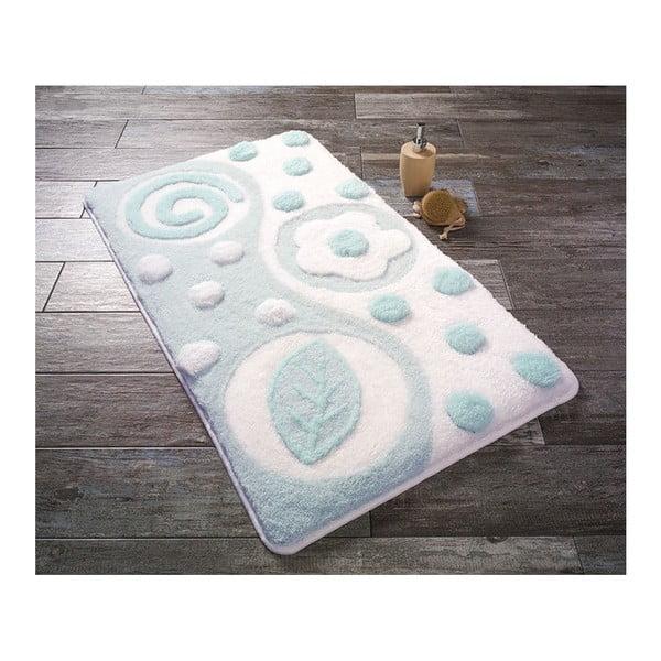 Modrobílá předložka do koupelny Confetti Bathmats Mindos, 60x100cm