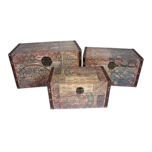 Sada 3 úložných krabic Baules
