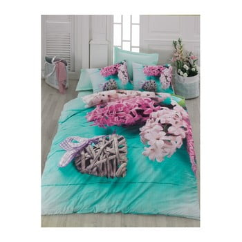 Lenjerie de pat cu cearșaf din bumbac Celine, 200 x 220 cm de la Cotton Box