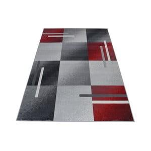 Covor Webtappeti Modern, 140 x 200 cm, roșu-gri